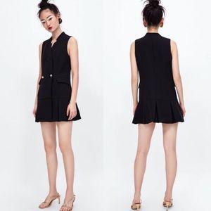 NWOT Zara Black Sleeveless Blazer Dress